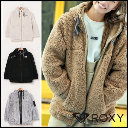 Short Casual Style Street Style Plain Shearling Logo