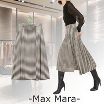 Max Mara Studio Flared Skirts Other Plaid Patterns Casual Style