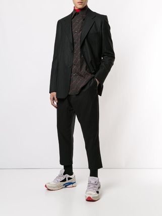 Wool Collaboration Logo Blazers Jackets