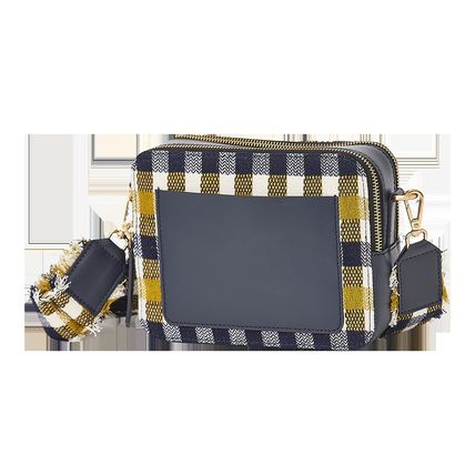 Other Plaid Patterns Casual Style Leather Crossbody