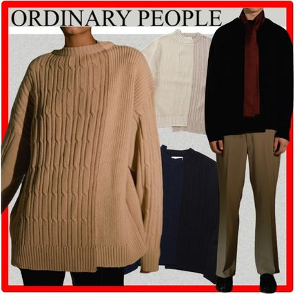 ORDINARY PEOPLE Sweaters Unisex Street Style Long Sleeves Sweaters