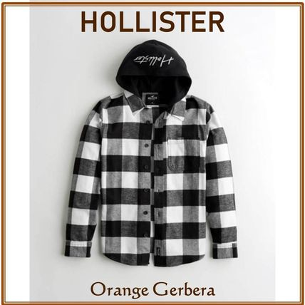 Hollister Co. Shirts Gingham Other Plaid Patterns Street Style Long Sleeves