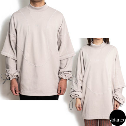 Pullovers Sweat Street Style Long Sleeves Cotton Logo