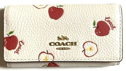 Coach Tropical Patterns Leather Keychains & Bag Charms