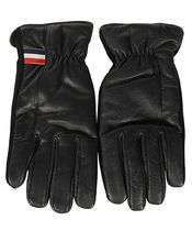 MONCLER Plain Leather Leather & Faux Leather Gloves