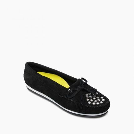 Star Rubber Sole Casual Style Suede Studded Collaboration