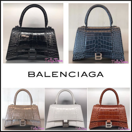 BALENCIAGA Crocodile 2WAY Leather Party Style Office Style