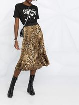 ZADIG & VOLTAIRE Leopard Patterns Casual Style Pleated Skirts Street Style