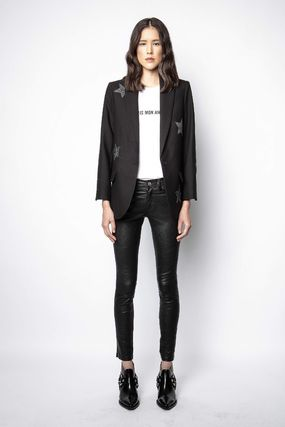 ZADIG & VOLTAIRE More Jackets Star Casual Style Street Style Plain Office Style 3