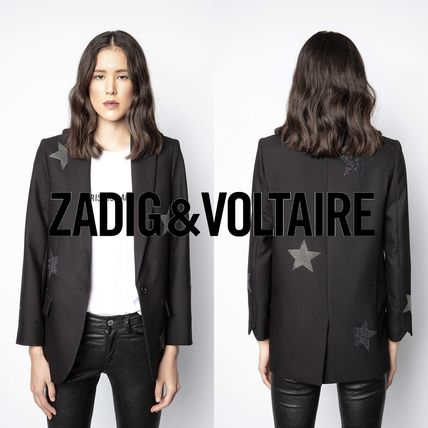 ZADIG & VOLTAIRE More Jackets Star Casual Style Street Style Plain Office Style