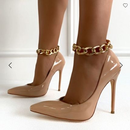 Casual Style Plain Pin Heels Heeled Sandals
