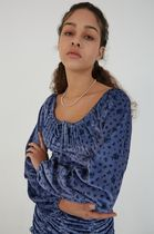ANOTHER A Dresses Short Flower Patterns Casual Style Street Style Long Sleeves 7