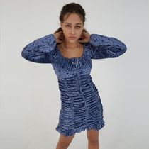 ANOTHER A Dresses Short Flower Patterns Casual Style Street Style Long Sleeves 9