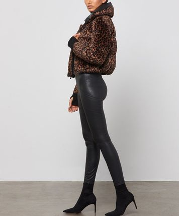 Short Leopard Patterns Casual Style Street Style Party Style