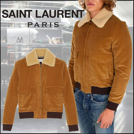 Saint Laurent Plain Shearling Jackets