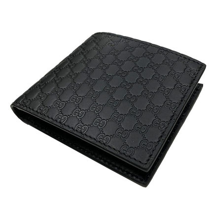 GUCCI Leather Logo Folding Wallets