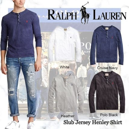 Ralph Lauren Button-down Street Style Long Sleeves Plain Cotton