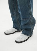 ANDERSSON BELL More Jeans Unisex Street Style Plain Logo Jeans 12
