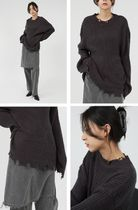 Raucohouse Long Sleeves Plain Oversized Sweaters