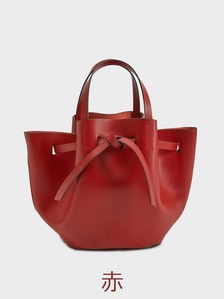 Casual Style Plain Leather Handbags
