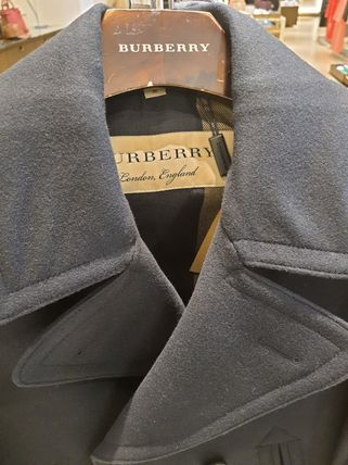Burberry Wool Cashmere Peacoats Coats