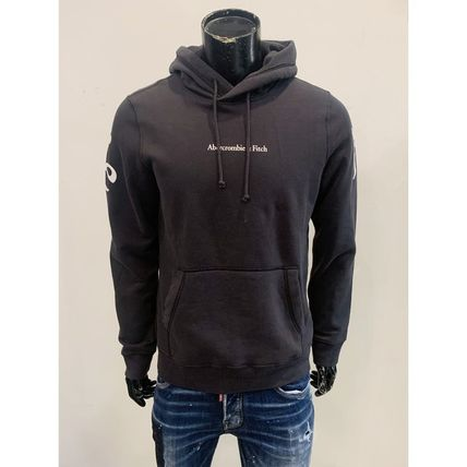 Long Sleeves Cotton Logo Surf Style Hoodies
