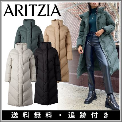 Aritzia Monogram Wool Nylon Plain Long Oversized Nylon Jacket