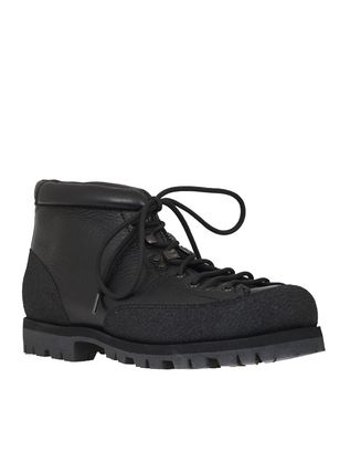 Mountain Boots Plain Leather Shoes