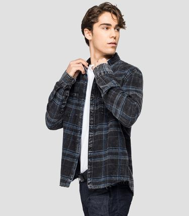 Tartan Street Style Long Sleeves Cotton Shirts