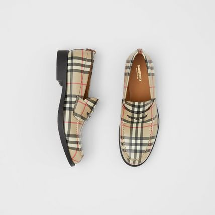 Burberry Other Plaid Patterns Loafers Street Style Leather Bridal