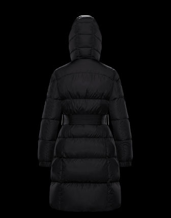 MONCLER Nylon Street Style Plain Long Down Jackets