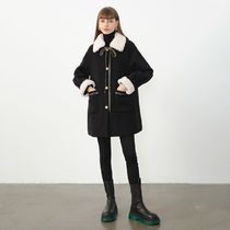Stand Collar Coats Casual Style Wool Faux Fur Street Style