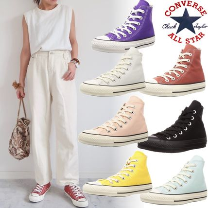 CONVERSE ALL STAR Rubber Sole Unisex Street Style Plain Logo Low-Top Sneakers