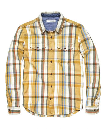 Button-down Other Plaid Patterns Unisex Street Style
