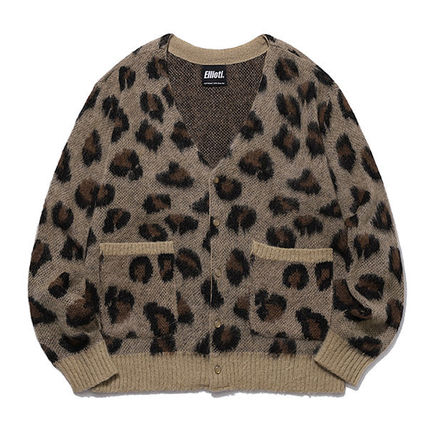 Leopard Patterns Unisex Other Animal Patterns Cardigans