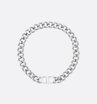 Christian Dior Street Style Chain Logo Necklaces & Chokers