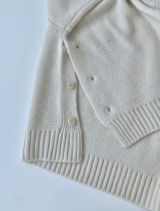 HUE Sweaters Wool Street Style V-Neck Collaboration Long Sleeves Plain 3