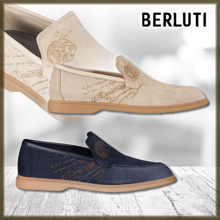 Berluti Plain Toe Loafers Suede Loafers & Slip-ons