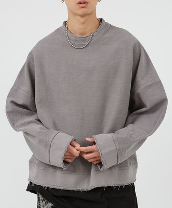 Raucohouse Unisex Street Style Collaboration Long Sleeves Cotton