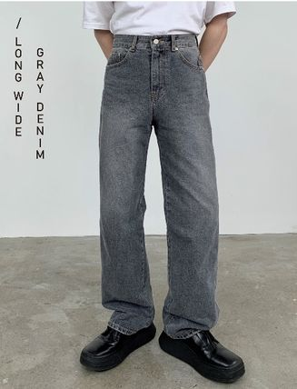 HUE Slax Pants Denim Street Style Collaboration Jeans