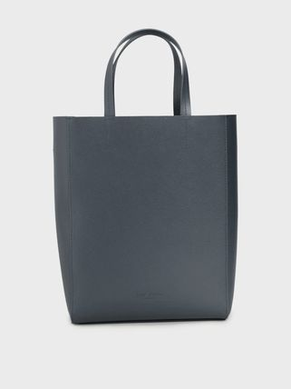 Formal Style  Casual Style Plain Leather Office Style Totes