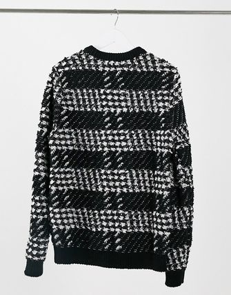 ASOS Sweaters Other Plaid Patterns Street Style Long Sleeves Sweaters 2