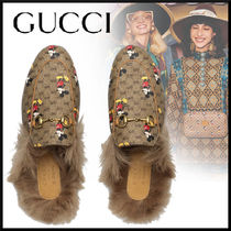 GUCCI Princetown Monogram Blended Fabrics Collaboration Other Animal Patterns