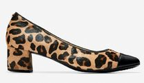 Cole Haan Leopard Patterns Round Toe Casual Style Faux Fur Party Style