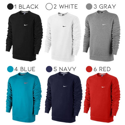 Nike Unisex Blended Fabrics Street Style U-Neck Long Sleeves