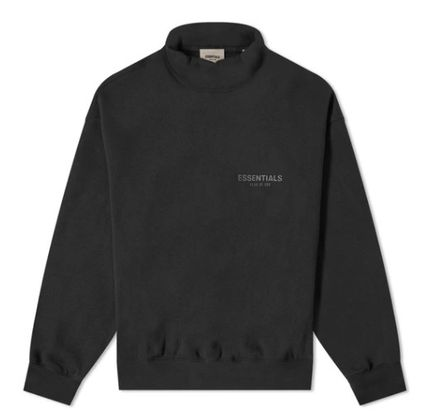 FEAR OF GOD ESSENTIALS Unisex Street Style Long Sleeves Plain Cotton Logo