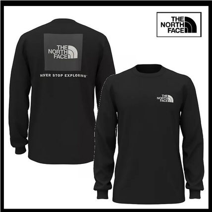 THE NORTH FACE Long Sleeve Crew Neck Street Style Long Sleeves Plain Cotton