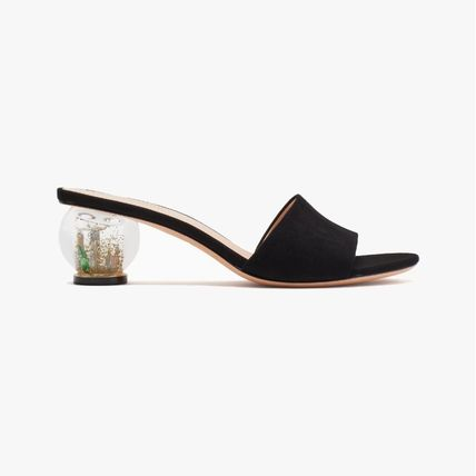 kate spade new york Round Toe Casual Style Suede Blended Fabrics Plain