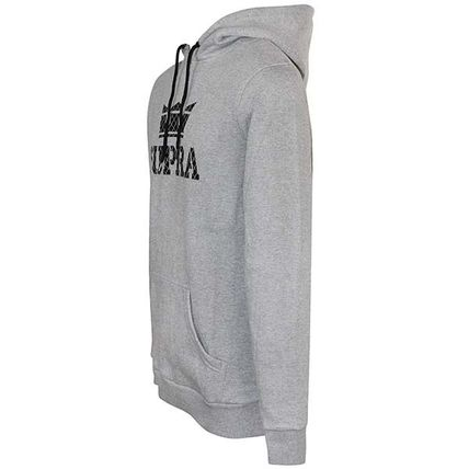 Unisex Sweat Long Sleeves Plain Cotton Logo Hoodies