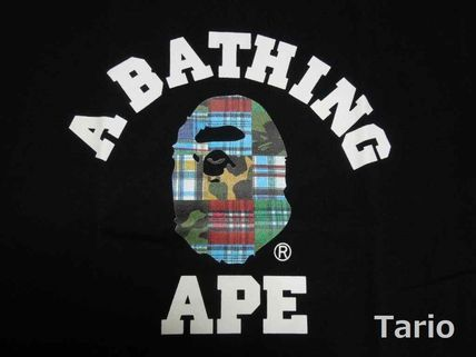 A BATHING APE Cotton Short Sleeves Street Style T-Shirts